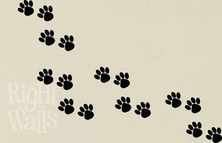 Animal Paw Prints Dog Cat Wall Decals Vinyl Art Stickers